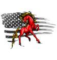 american horse flag logo vector image
