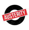 austerity rubber stamp vector image vector image