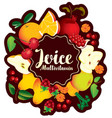 banner multivitamin juice with various fruits vector image vector image