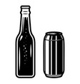 beer bottles design element for logo label sign vector image