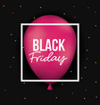 black friday poster with white frame over magenta vector image vector image