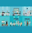 business people working in office vector image vector image