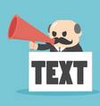 Businessman holding a megaphone with a text vector image vector image
