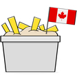 Canadian poutine vector image vector image