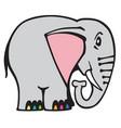 cartoon elephant logo vector image vector image