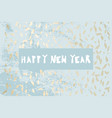chic winter pastel gold print vector image vector image