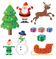 christmas theme set vector image