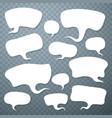 cloud talk set art shape vector image vector image