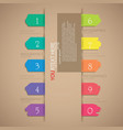 colorful tag infographic vector image