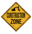 construction zone vintage rusty metal sign