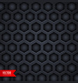 dark hexagonal pattern background design vector image vector image