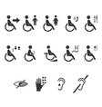 disability people information flat icons vector image
