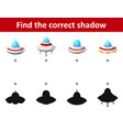 find the correct shadow spaceship among difference vector image vector image