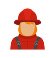 firefighter icon flat style vector image