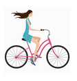 girl on bike vector image vector image