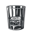 glass whiskey with ice bar menu vector image vector image