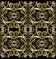 gold embroidery arabesque seamless pattern vector image vector image