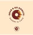 grab go donuts logo bakery donuts cafe vector image vector image