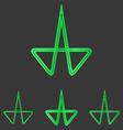 Green line research logo design set vector image vector image