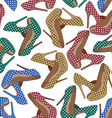 High heels pattern vector image vector image
