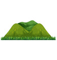 isolated green mountain on white background vector image
