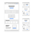 landing page website wireframe interface template vector image