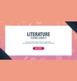 literature subject back to school background vector image