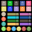 Lock icon sign Set from twenty seven multicolored vector image vector image