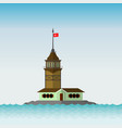 maidens tower in istanbul flat desing vector image