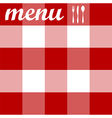 Menu design tablecloth texture vector image vector image