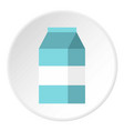 milk box icon flat style vector image vector image