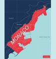monaco country detailed editable map vector image vector image