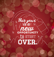motivational message new year vector image vector image