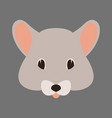 mouse face flat style front vector image