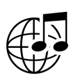Music note in black and white vector image vector image