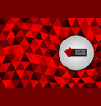 new design red color triangles abstract vector image vector image