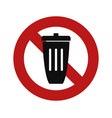 no trash bin vector image