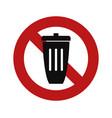 no trash bin vector image