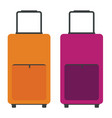 orange and pink travel bags flat color style vector image vector image
