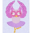 owl ballerina vector image vector image