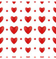 pattern of red hearts on a white background vector image vector image