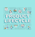 product lifecycle word concepts banner vector image