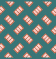 red windowsseamless pattern on mint green vector image vector image