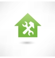 repairing a house green icon vector image