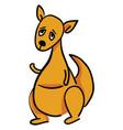 sad kangaroo on white background vector image