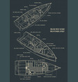 sailing yacht design and interior layout vector image vector image