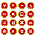 school icon red circle set vector image vector image