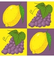 Seamless Pattern with Purple Grapes and Yellow vector image vector image