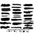 set grunge brush vector image vector image
