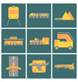 set of icons in flat design freight and passenger vector image